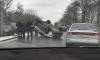 На Каменноостровском автомобиль перевернулся после столкновения с машиной ДПС