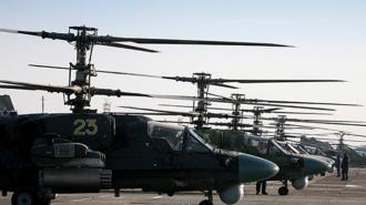 Российские ударные вертолеты заметили в районе баз США в Сирии