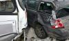 В Петербурге маршрутка с пассажирами врезалась в иномарку