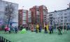 Жители нового благоустроенного двора в Выборге отпраздновали его открытие