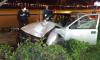 После погони со стрельбой пьяный водитель тормозил о столб