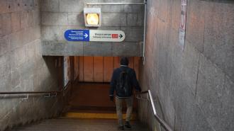 """Один из вестибюлей станции метро """"Девяткино"""" временно закрыли"""