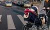 На Апрельской улице микроавтобус сбил женщину с детской коляской