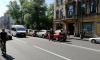 Паровозик из четырех машин собрал пробку на Каменноостровском проспекте