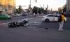 На углу Ленинского проспекта и Зины Портновой мотоцикл врезался в легковушку
