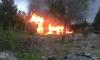 В Парголово вспыхнули ярким пламенем сразу два дома