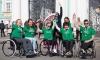 На Дворцовой площади состоялась Звездная эстафета спортсменов-колясочников