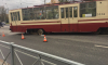 На Мужества трамвай снова сошел с рельсов