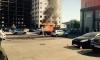На Кондратьевском проспекте BMW X6 выгорела дотла задолго до приезда пожарных