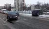 На Народной собралась пробка из-за разбитой машины посреди дороги