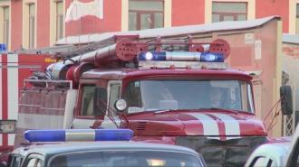 Пожар в квартире Невского района тушат 16 пожарных
