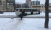 Автобус сбился с пути на улице Маршала Захарова