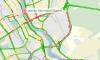 Ремонт дороги и массовое ДТП стали причинами огромной пробки на КАД