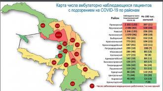 Появились данные о заболевании коронавирусом по районам Петербурга