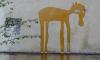 Неизвестные нарисовали лошадей на стенах и домах на Васильевском острове