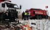 Под Челябинском два человека погибли в лобовом ДТП двух мусоровозов