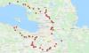 СМИ опубликовали карту 62 блокпостов на случай введения пропускного режима