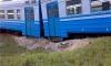 На переезде в Лосево электропоезд сошел с рельсов в результате столкновения с лесовозом