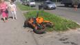 На улице Бабушкина сбили мотоциклиста