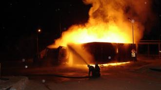 Пожар на заправках в Костроме полностью потушен, один человек погиб