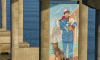 На опоре Крымского моста появилось огромное граффити высотой 20 метров