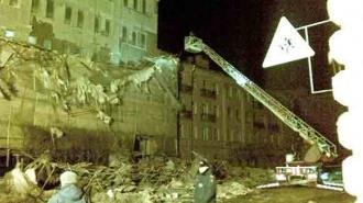 Шторм, бушевавший в Петербурге, обрушил строительные леса