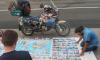 Пара с ребенком приехала из Аргентины в Петербург на мотоцикле