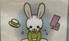 Японская картинка с кроликом-онанистом стала мемом на Западе