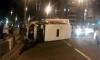 Пьяный водитель маршрутки опрокинул ее набок, пострадали пассажиры