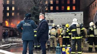 """Пожар на """"Невской мануфактуре"""" удалось локализовать"""