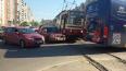 ДТП с трамваем на пересечении Стародеревенской улицы ...