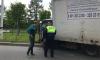 На Петербургском шоссе грузовик с хлебом въехал в забор