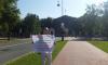 У Смольного проходит одиночный пикет в защиту парков и скверов