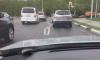В Рязани ливнем смыло инновационную дорожную разметку