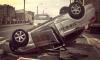 """На Обводном """"Везет"""" больше не везет: такси перевернулось на крышу"""