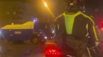 В Петербурге заметили водометы, которые перегоняют в центр города