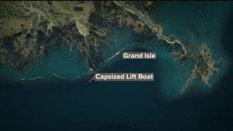 У берегов Луизианы перевернулось самоподъемное судно