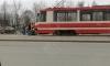 На Луначарского трамвай забодал пешехода-беспредельщика