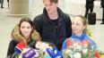 Молодых фигуристов-чемпионов встретили в аэропорту ...