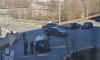 На углу Карельского переулка и набережной Черной речки перевернулся автомобиль