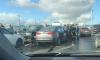 BMW спровоцировал массовую аварию на мосту Александра Невского: есть пострадавшие