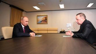 Путин обсудит развитие Петербурга на встрече с Бегловым 27 апреля