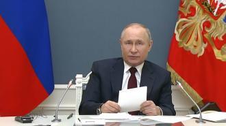 Появление Путина прервало речь Макрона на саммите по климату