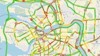 Петербуржцы жалуются на необычные пробки вечером в пятницу