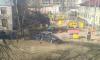 Иномарка въехала в забор детского сада на Новоизмайловском проспекте