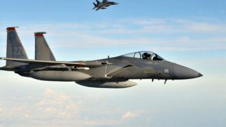 Американский истребитель потерпел крушение в Виргинии