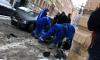 На Петроградке BMW впечатала женщину в стену