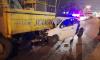 В Петербурге каршеринг влетел в снегоуборочную машину