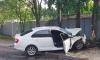На улице Матроса Железняка два человека погибли в Skoda, загоревшейся после ДТП