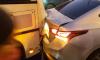 Столкновение маршрутки и иномарки заблокировало движение трамваев на Луначарского